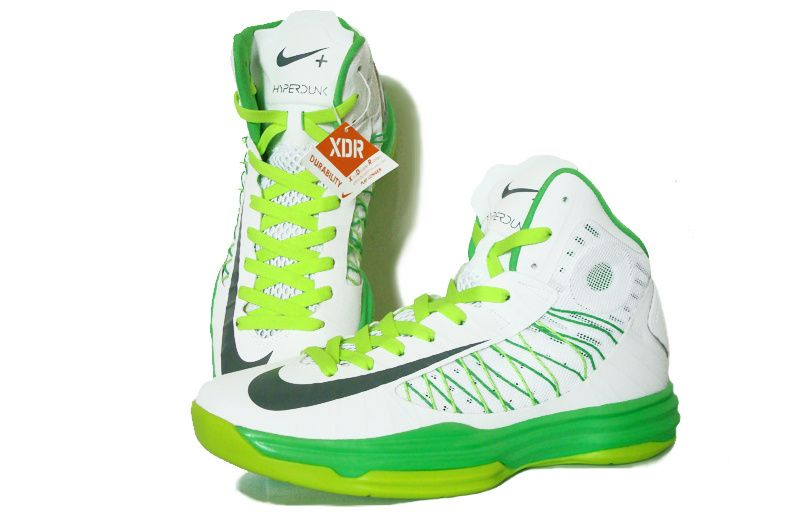 green and white hyperdunks