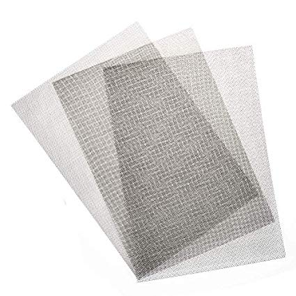 Amazon Com Timesetl 3pcs Stainless Steel Woven Wire 20 Mesh 12 X8 30x21cm Metal Mesh Sheet 1mm Hole Great Fo Metal Mesh Metal Mesh Sheet Steel Sheet Metal