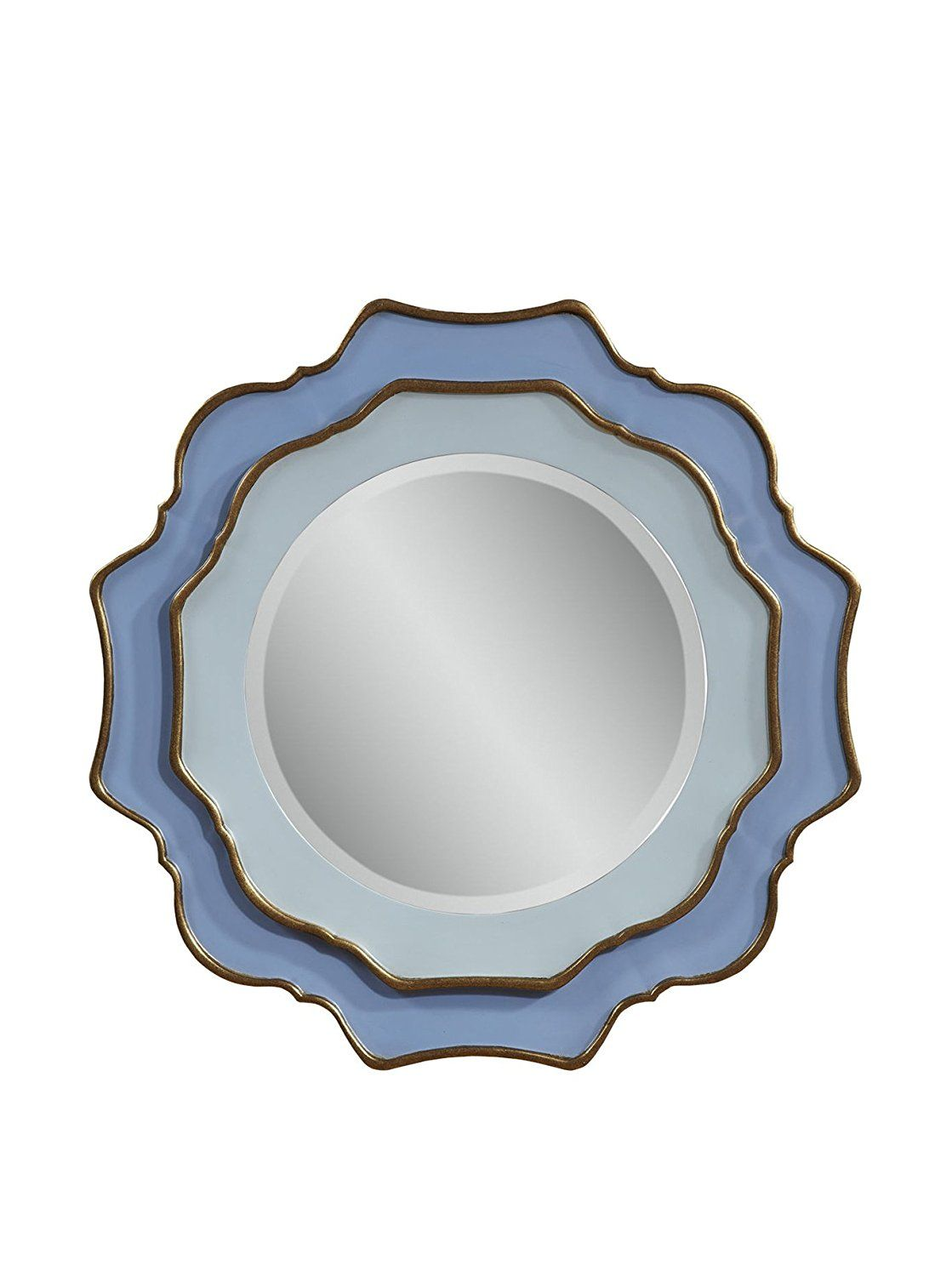 mirror frame outline. Bassett Mirror Caprice Wall Mirror, Blue/Gold Leaf *** Be Sure To Check Out This Awesome Product. (This Is An Affiliate Link) #Mirrors Frame Outline