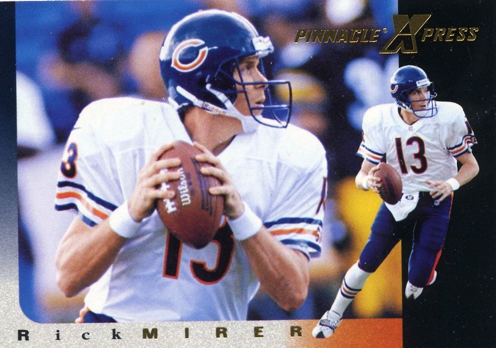 RARE 1997 PINNACLE XPRESS RICK MIRER CHICAGO BEARS MINT