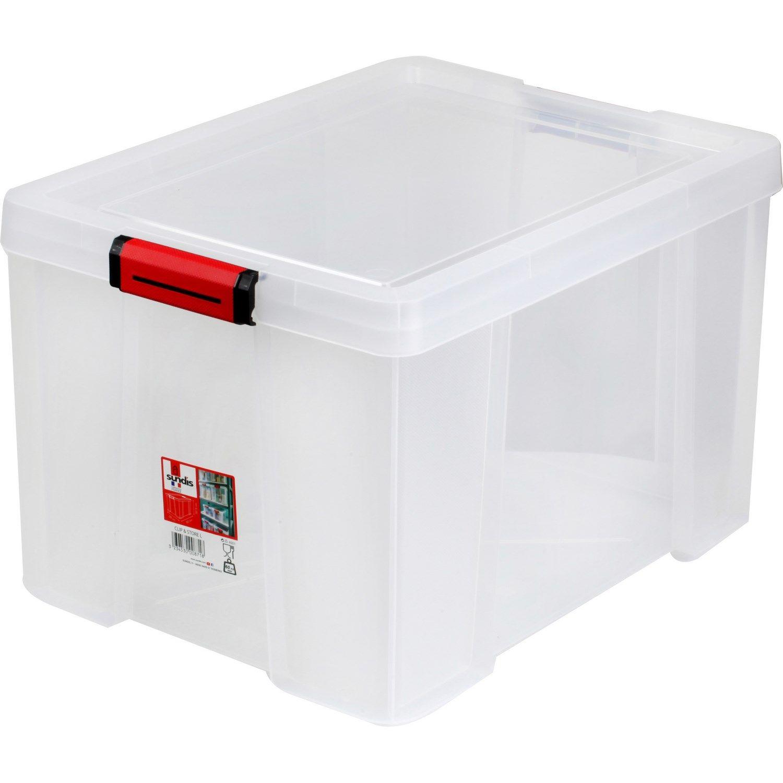 Bac Et Couvercle Clip Store 45l Transparent Sundis L Unite A Prix Couvercle Stores Et Transparent