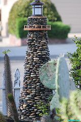 handmade pebble lighthouse - Google Search