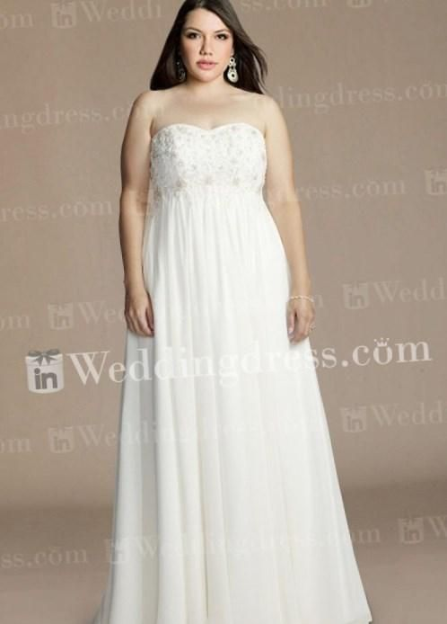 Plus size maternity wedding dress - http://pluslook.eu/fashion/plus ...