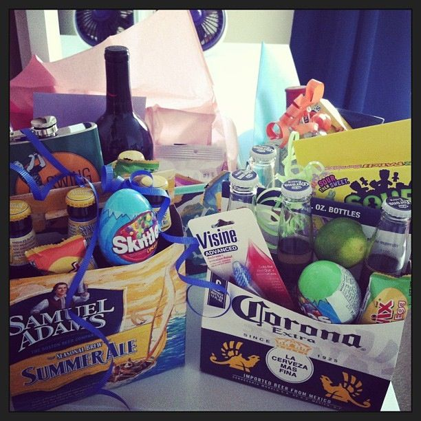 Adult easter basket holidays pinterest easter baskets easter adult easter basket who says easter baskets are only for little kids give your guy an easter themed basket that will make him smile negle Images