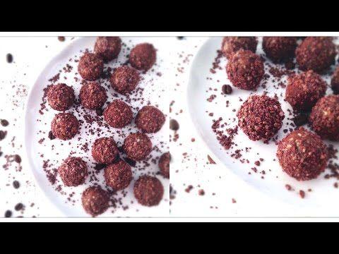 Chocolate Coffee Truffles (Raw Vegan + Sugar & Gluten Free!)  #RawFood #RawVegan #Vegan #SugarFree #GlutenFree #DairyFree #Chocolate #ChocolateBalls #ChocolateTruffles #ChocolateCandy #HealthyCandy #DateBalls #RawChocolate For the written version of this recipe, click here: http://www.julieslifestyle.com/energizing-chocolate-coffee-truffles/