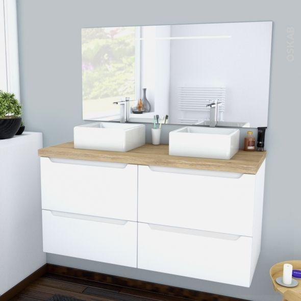Meuble - Salle de bains PIMA - Blanc - Achat Modèle de salle ...