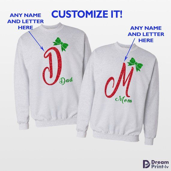 5c127df3bf Personalized Chirstmas couples sweatshirts / Husband and wife Christmas  gift / Matching couple sweaters / Couples sweatshirt / Best friend gift /  Ugly ...
