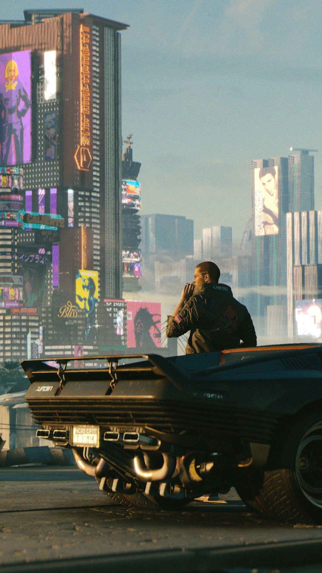 CYBERPUNK 2077 Night City day time Cyberpunk city