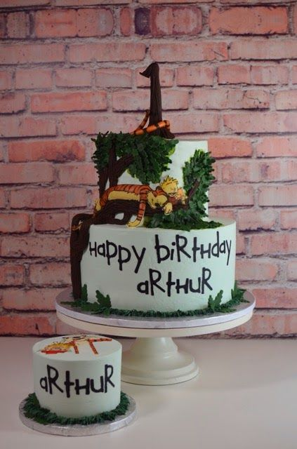 Cup a Dee Cakes Blog: Calvin & Hobbes First Birthday