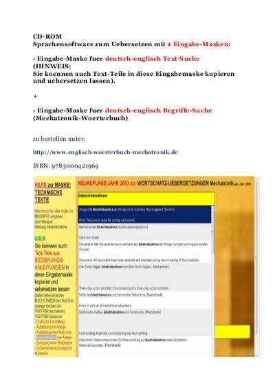 Technische Dokumentation Englische Texte Uebersetzen Fuer Automatiker Text Ubersetzen Technische Dokumentation Technisches Englisch