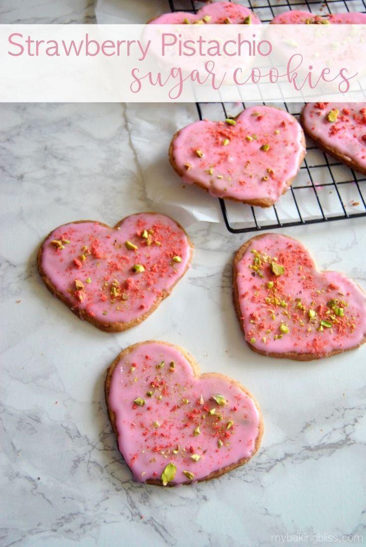 Strawberry Pistachio Sugar Cookies