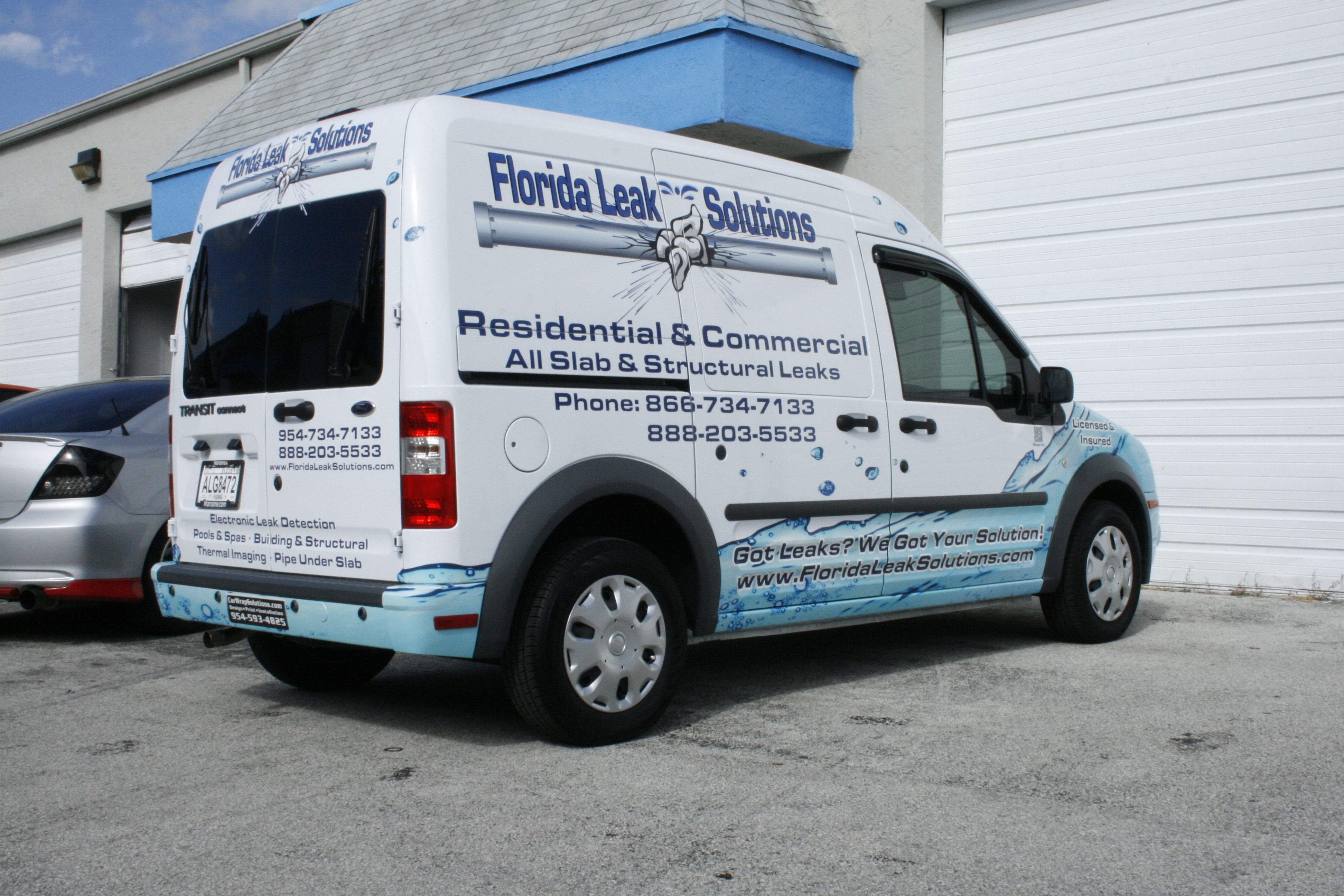 Ford Transit Connect Van Wraps Graphics For Plumbing Businesses