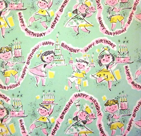 Vintage Wrapping Paper  Banner Birthday Gift by TillaHomestead, $6.25