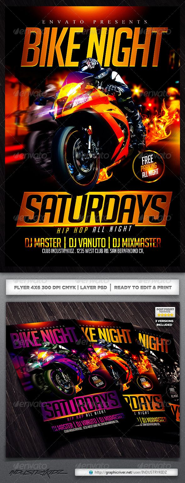 motorcycle event flyer party events fonts and flyer template buy motorcycle event flyer by industrykidz on graphicriver bike night flyer template super easy to edit text and elements all elements are included custom