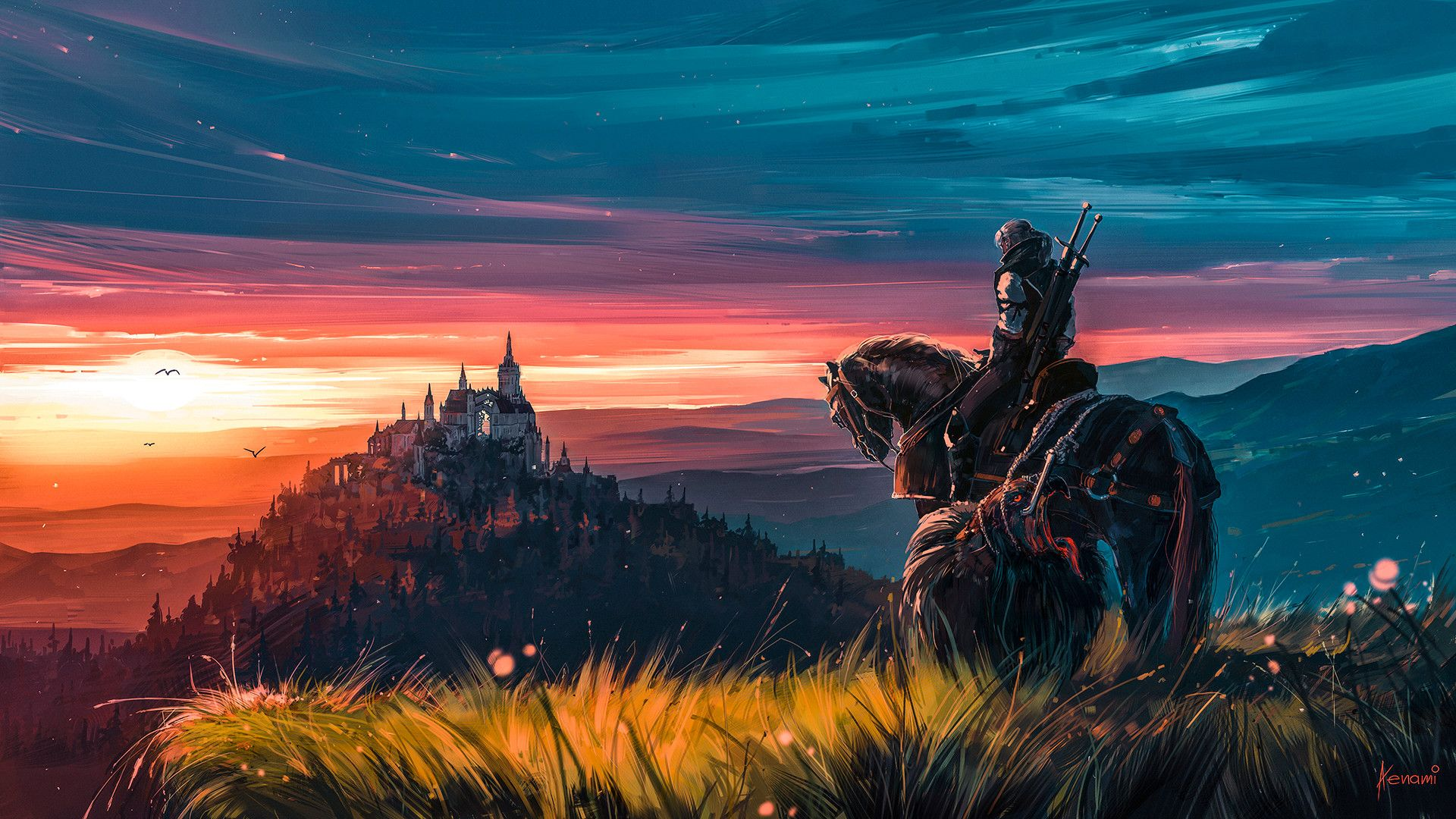 Beyond Hill And Dale By Alena Aenami 1920 1080 Witcher 3 Art
