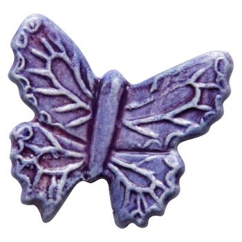 Mateus Purple Ceramic Butterfly Decoration: Small purple ceramic butterflies to place on your table as little decorations. The products are handmade and hand painted by experienced artisans in Portugal for Mateus.