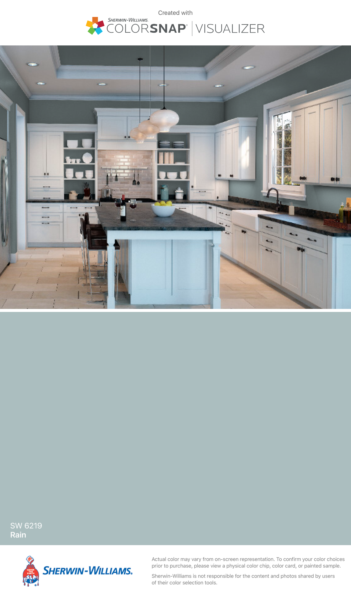 I found this color with colorsnap visualizer for iphone by sherwin williams rain sw 6219