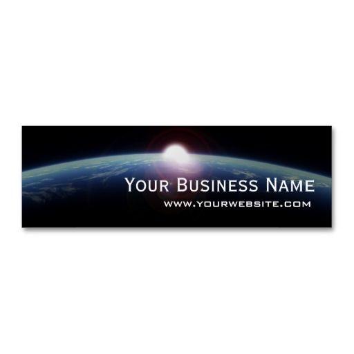 Unique space sunrise mini business card business cards and business unique space sunrise mini business card accmission Images