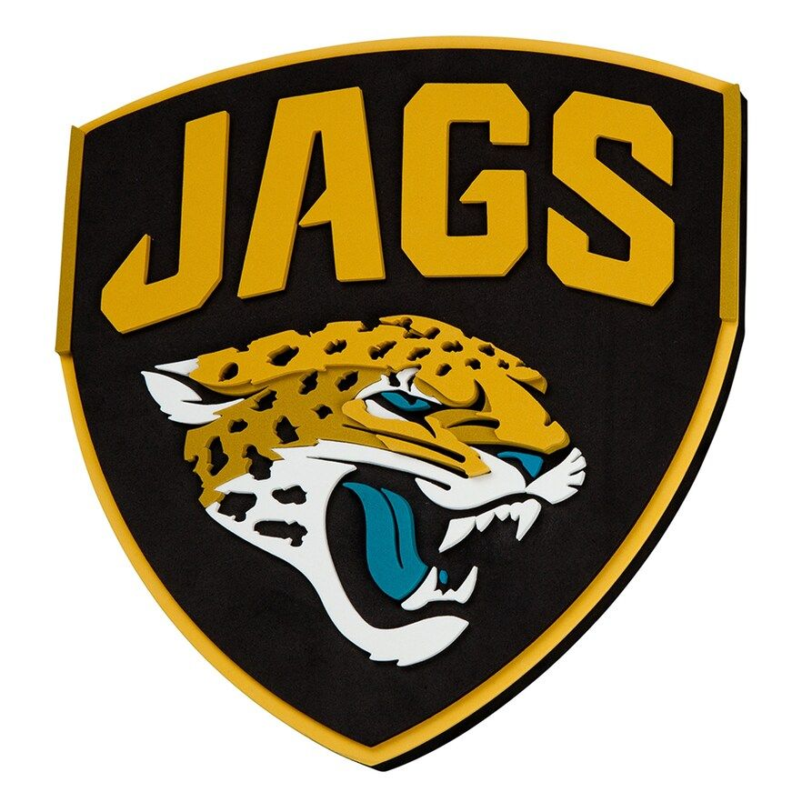 Jacksonville Jaguars 3D Fan Foam Logo Sign, 20X16X16