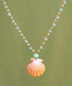 sunrise seashell necklace for sale   Sunrise Shell Reef necklace by Amy Grace. Sunrise shells can only be ...