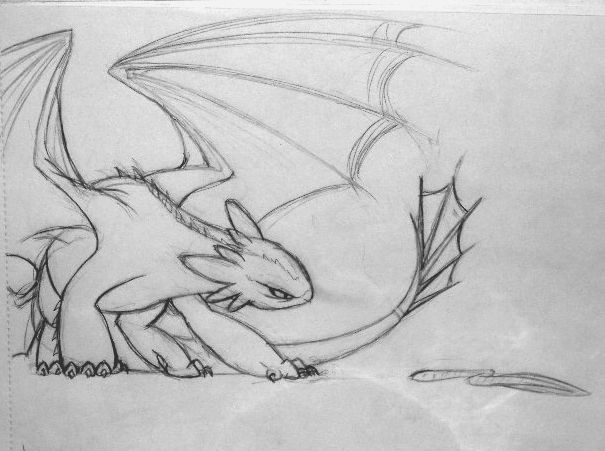 Toothless How To Train Your Dragon Cute Drawing