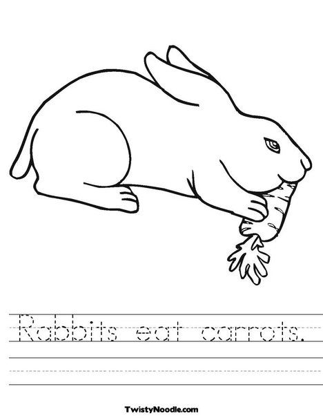 bunny: rabbits eat carrots. | animal coloring pages, bunny