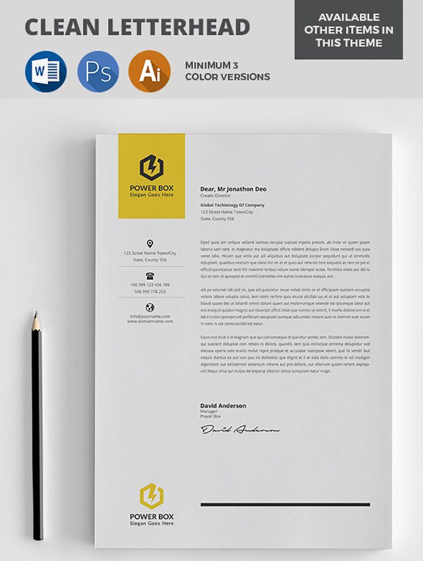 Professional Letterhead Templates 25 Professional Modern Letterhead Templates  Graphic Design .