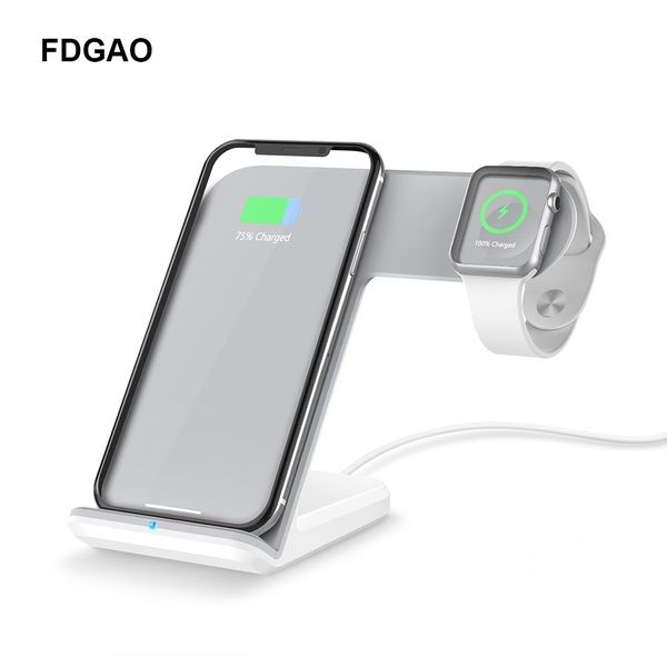 FDGAO QI Wireless Charger 2 In 1 Fast Charging Dock for