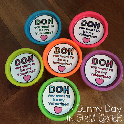 Play Dough Valentines Day Printable Cute