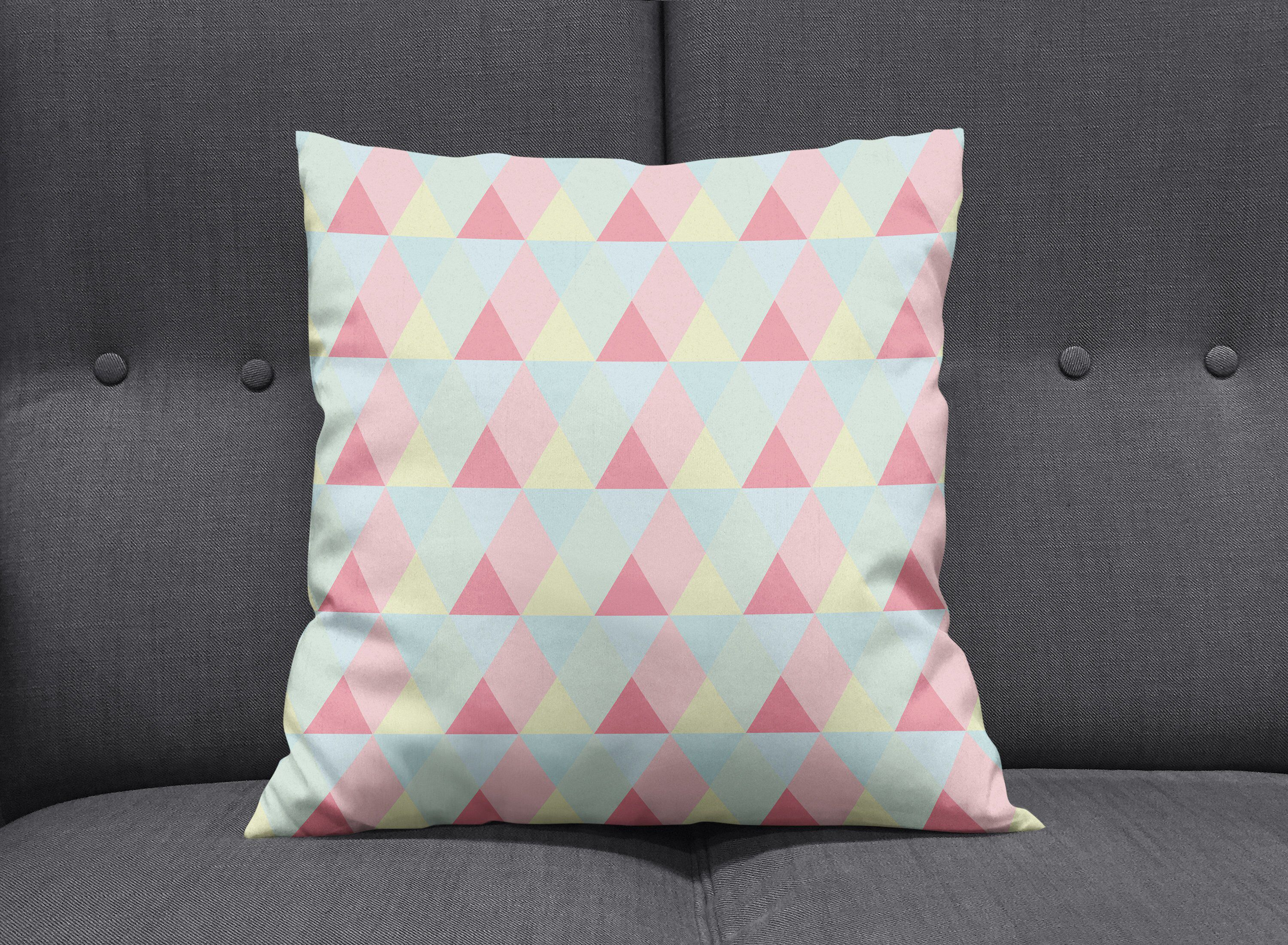 Pink white decorative pillow, Girls