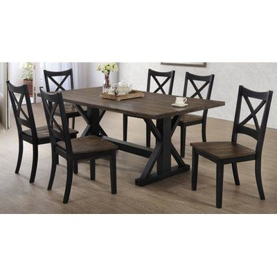 Landrum Counter Height Solid Wood Dining Table Dining Table