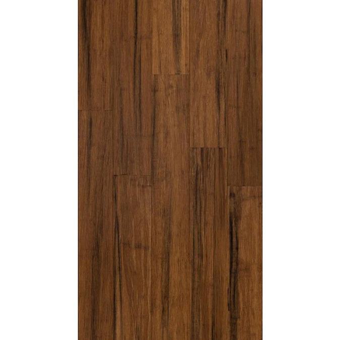 Style Selections 5.12in Rustic Brown Bamboo Handscraped