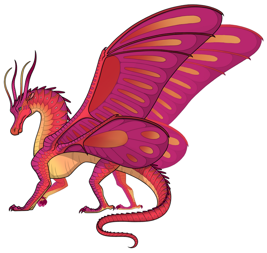 Gacha Results 57 Vibrant Hibiscus By Oleandy On Deviantart In 2020 Wings Of Fire Dragons Wings Of Fire Cute Dragon Drawing