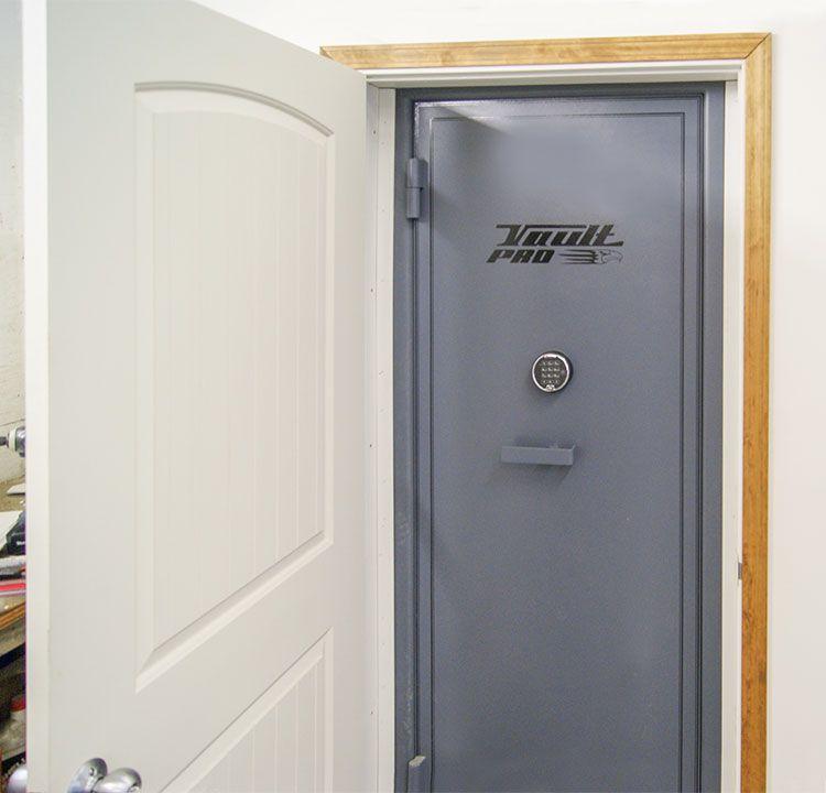 Custom discrete Vault Door behind unsuspected wooden door. & Custom discrete Vault Door behind unsuspected wooden door. | Vault ... pezcame.com