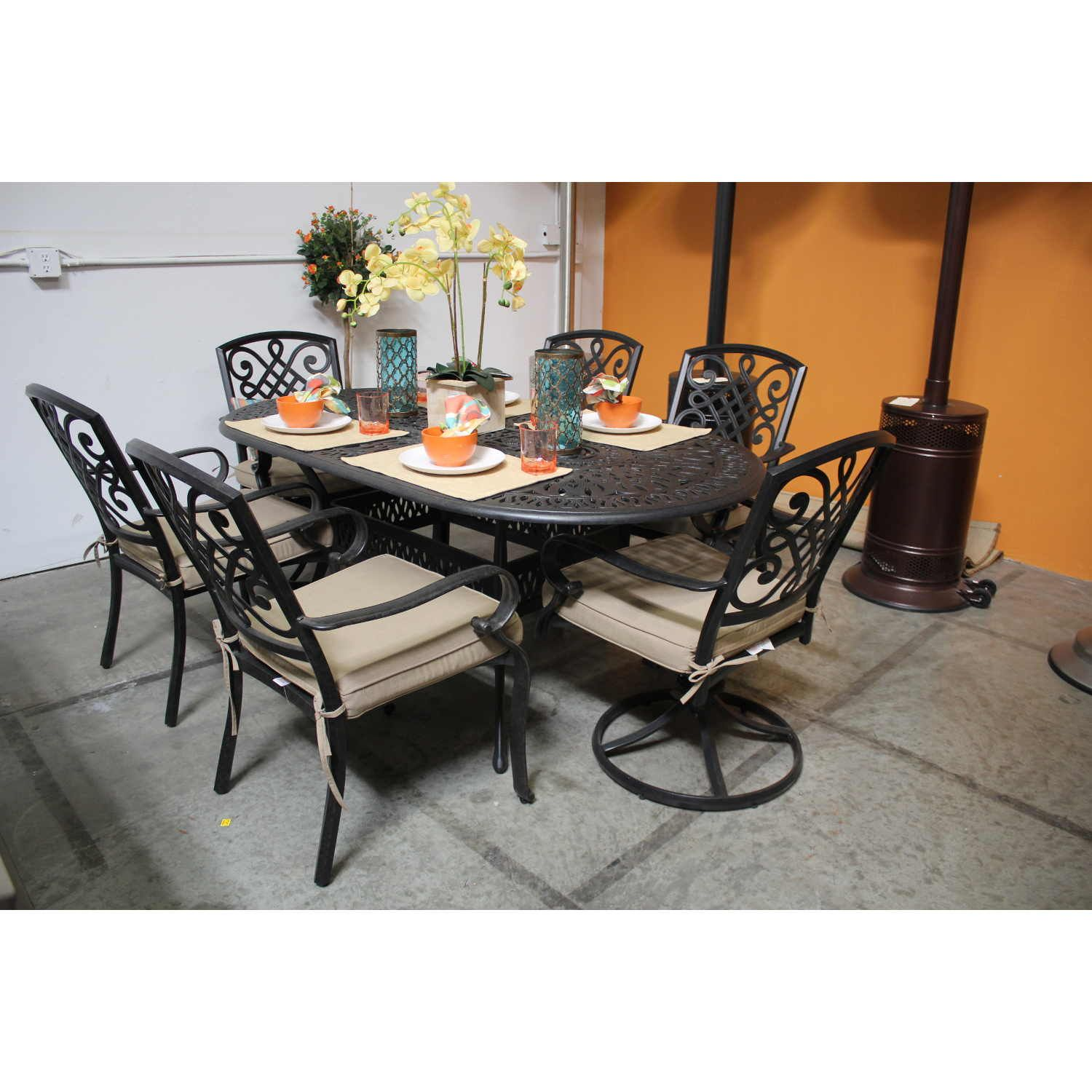 7 Pcdining Set #patio #patiofurniture #bridgetownchair Cool Cheap Dining Room Tables For Sale Design Decoration