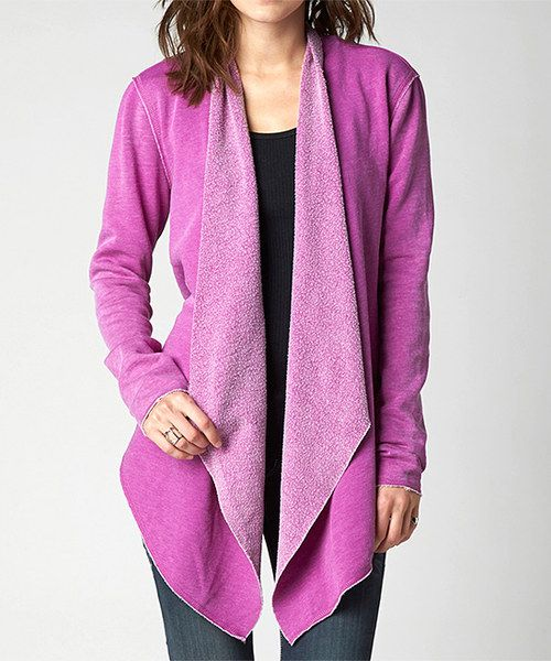 Look at this Fox Berry Punch Authentic Open Cardigan on #zulily today!