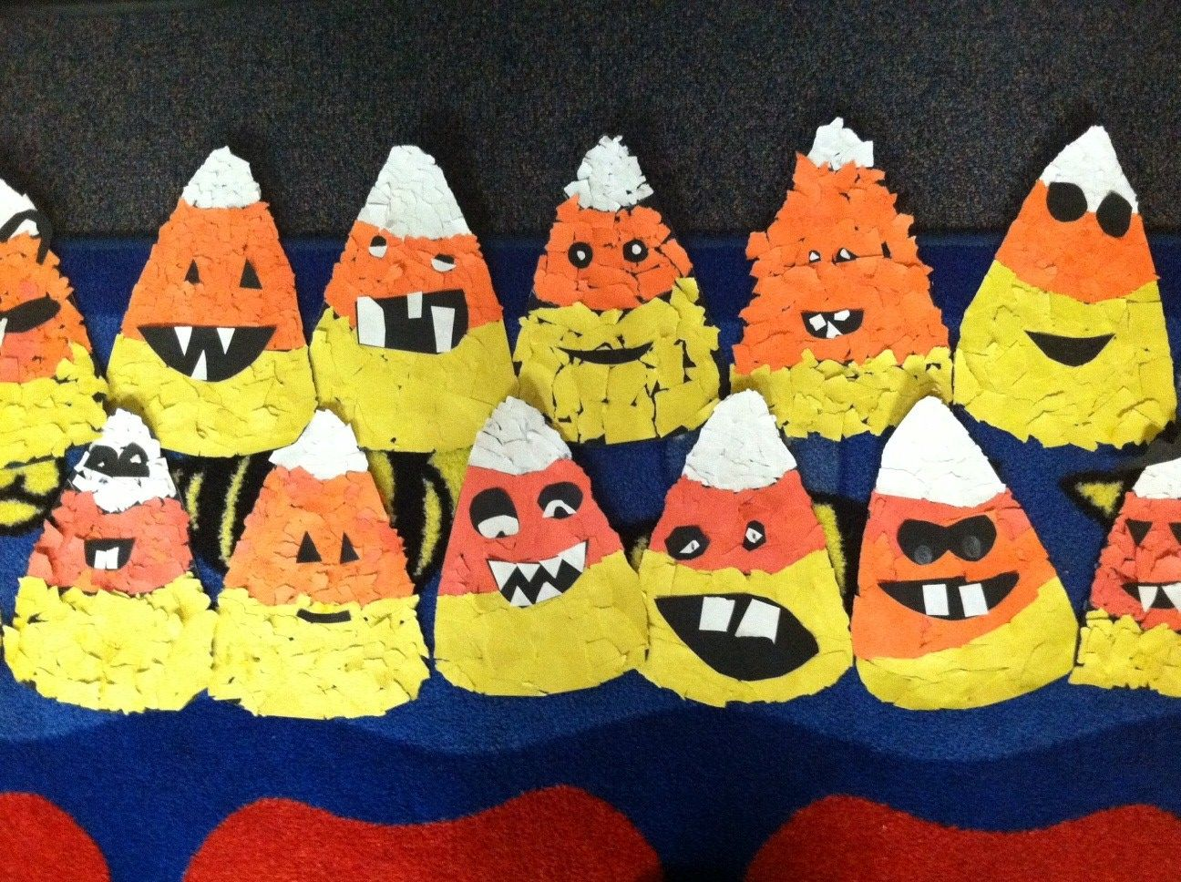 Hilarious Candy Corn Torn Paper Collages Gr 1
