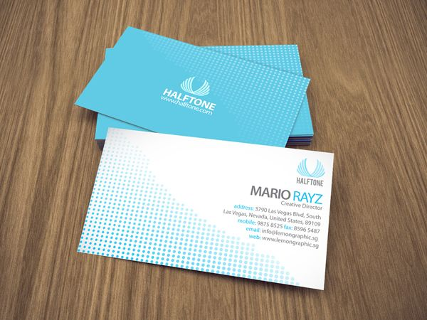 Halftone Corporate Business Card Lemon Graphic Singapore
