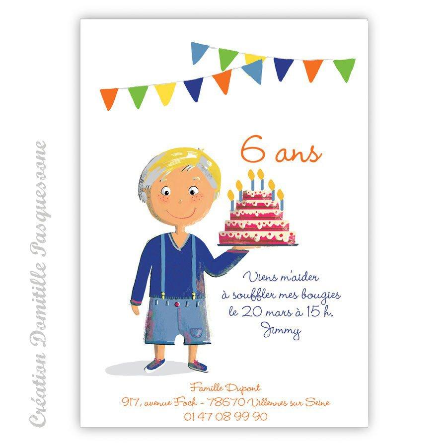 carte d'invitation anniversaire garçon 12 ans