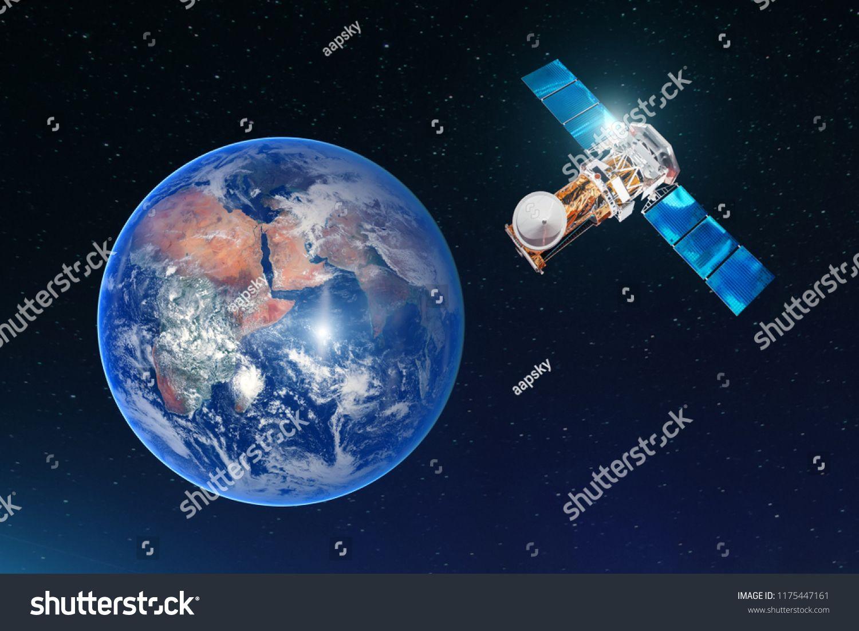 Satellite Telecommunication Connection Transmits Radio Communication On The Geostationary Orbit Of The Earth Aga Radio Communication Communication Satellites