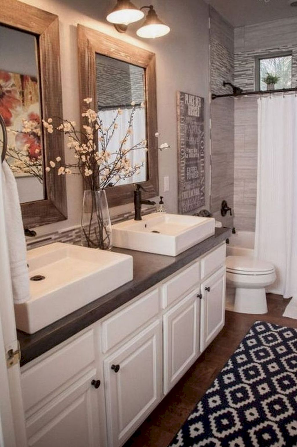 Awesome 100 Small Master Bathroom Remodel Ideas Https Decorapatio Com 2018 02 22 100 Bathroom Remodel Master Small Bathroom Remodel Farmhouse Bathroom Decor