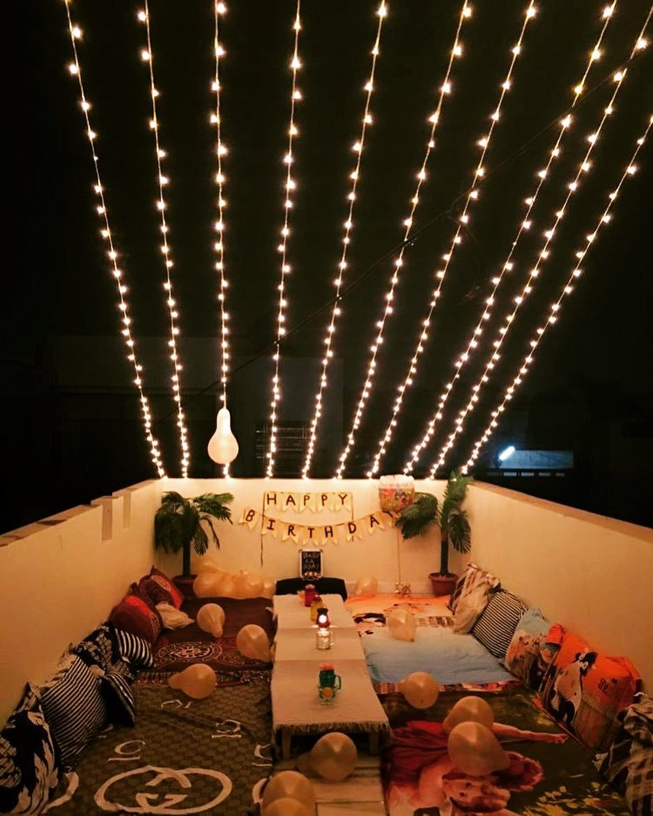 Terrace Decoration For Birthday Decoration For Home