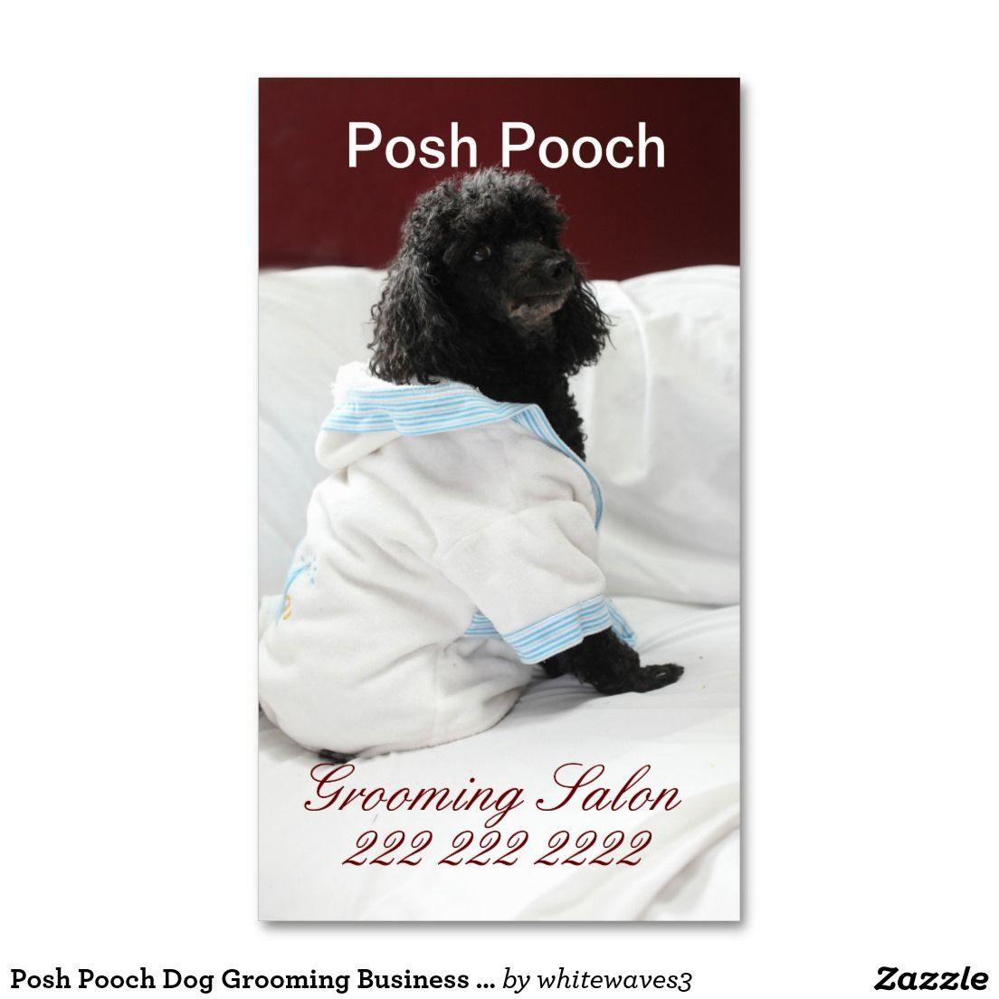 Posh Pooch Dog Grooming Business Card http://www.zazzle.com ...