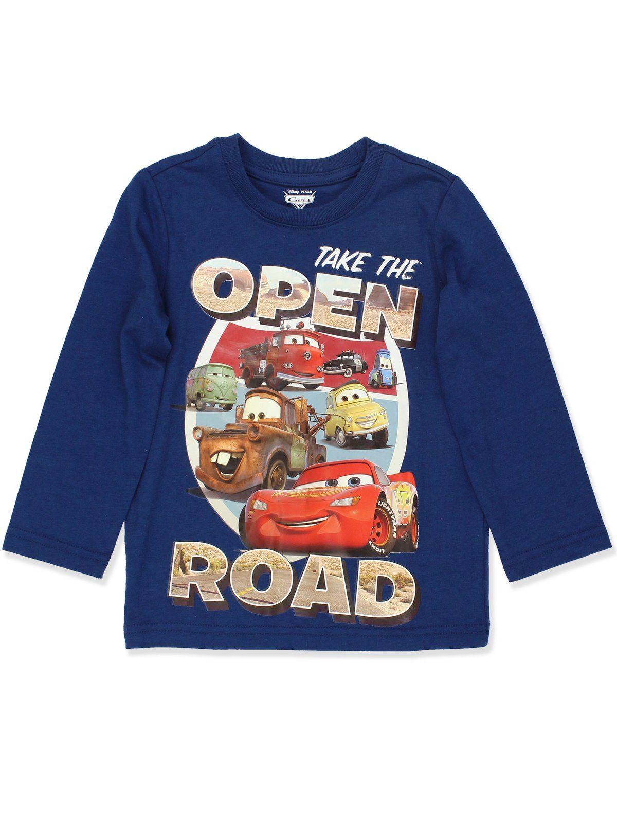Disney Cars Lightning McQueen Toddler Boys Long Sleeve T ...