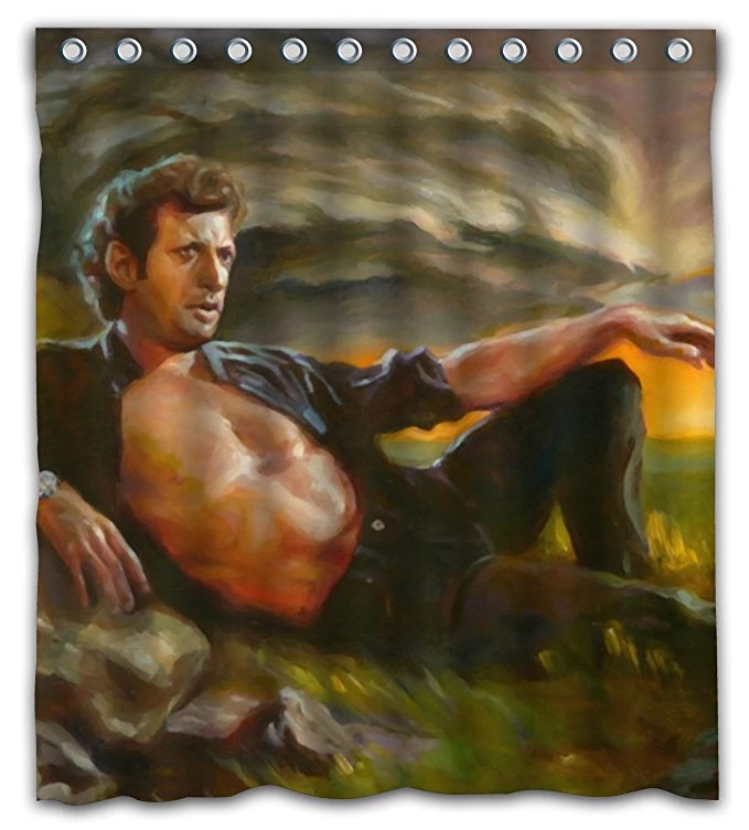 Funny Meme Jeff Goldblum Painting Shower Curtain Painting Shower