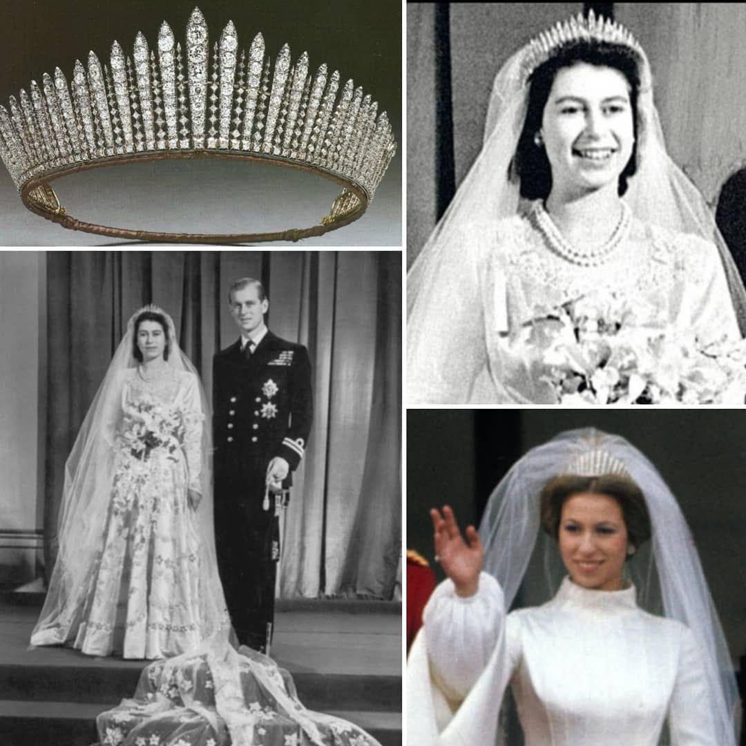 Tiaras Y Joyas Reales S Instagram Post Tiaras De Boda En 1947 La Hoy Reina Isabel Ii Usaría Para Su Boda Con El Entonces Prínc Crown Fashion Crown Jewelry