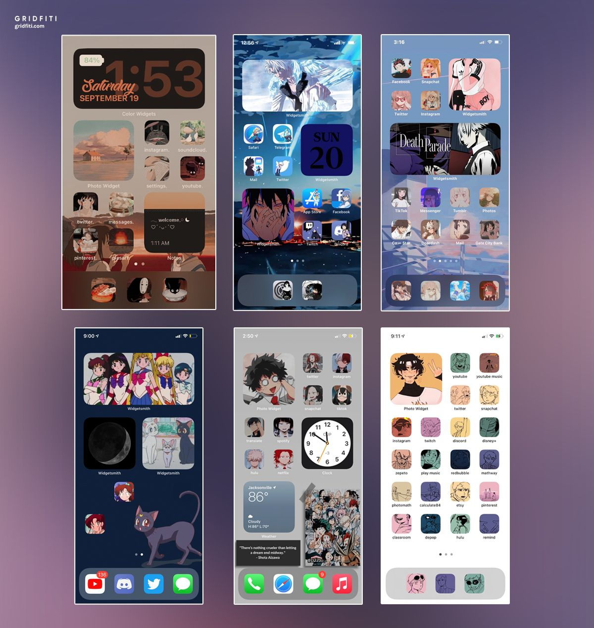 Anime Ios 14 App Icons Home Screen Ideas Wallpaper Iphone Neon Iphone Home Screen Layout Iphone Wallpaper App