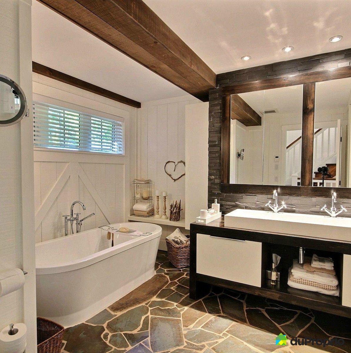 salle de bain de r ve cette salle de bain rustique est. Black Bedroom Furniture Sets. Home Design Ideas