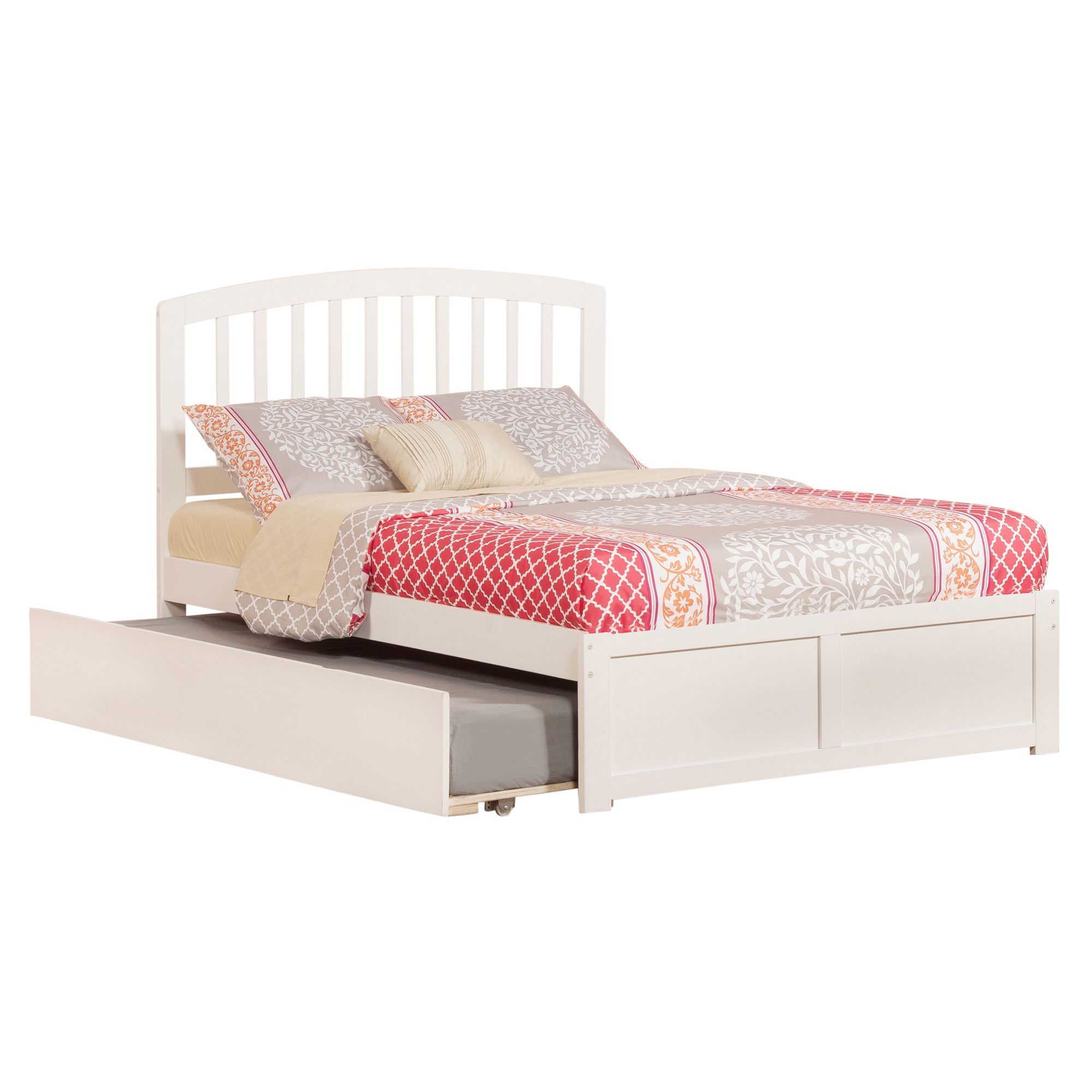 Richmond Full Platform Bed with Flat Panel Foot Board and