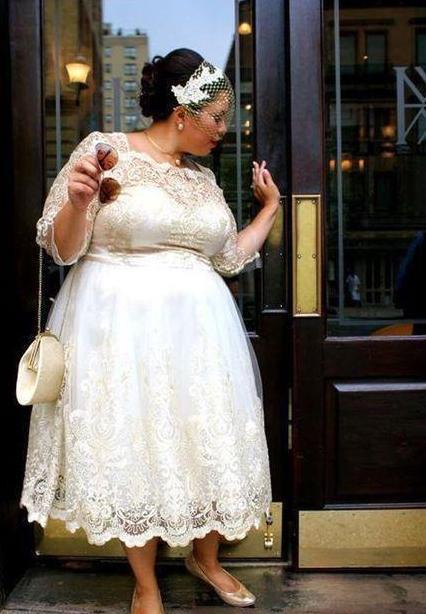 Carole Short Tea Length Wedding Dress in 2019 | Vow Renewal | Tea ...